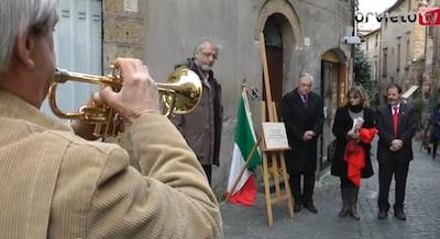 il 28 marzo 2013 la Pietra di Inciampo a ricordo di Angelo Costanzi